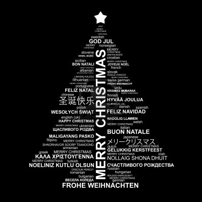 black white 11267456 black and white christmas typography illustration merry christmas in different languages