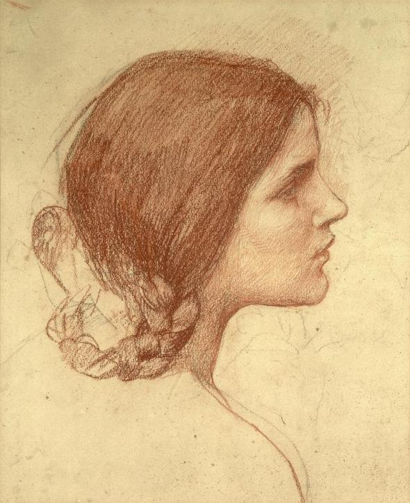1-head-of-a-girl-john-william-waterhouse