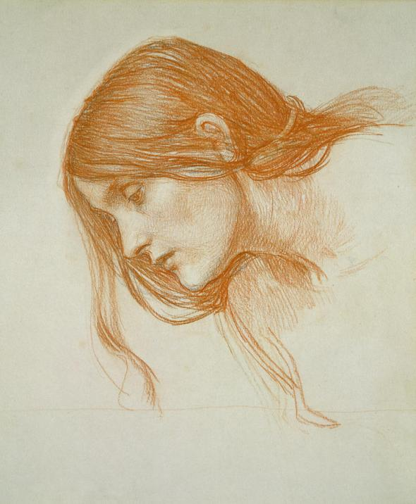 study-of-a-girls-head-john-william-waterhouse