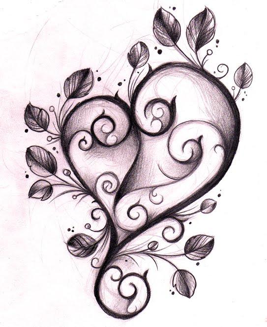 Heart Tattoo Design Sketches