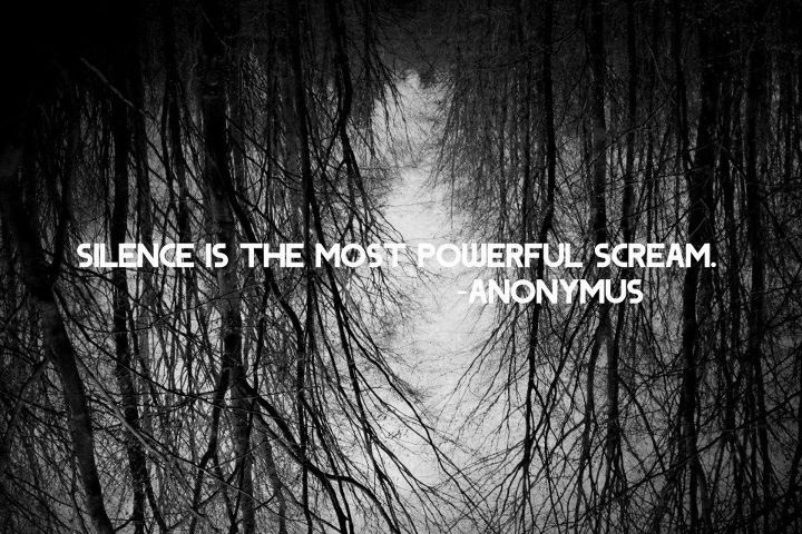 Black Black And White Photography Quote Silence Favimcom 342577