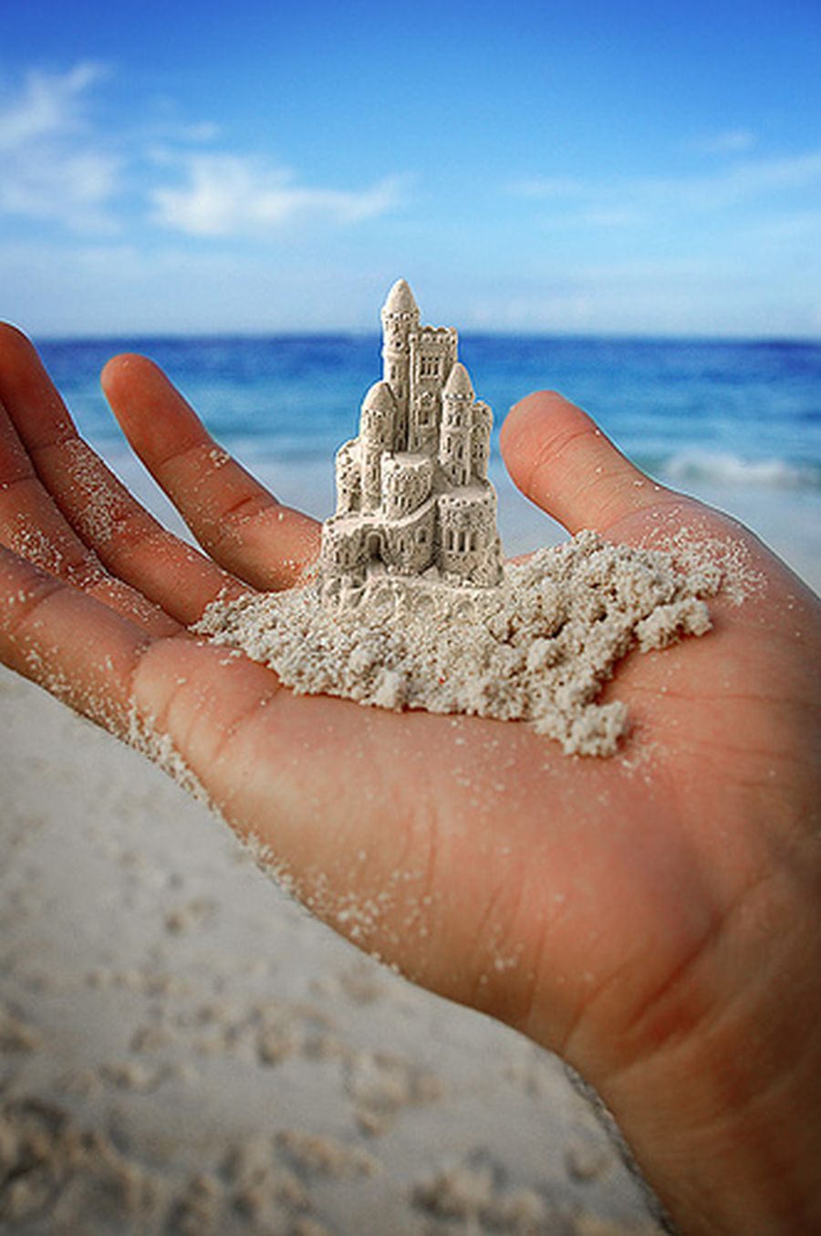 Sand-Castle-in-Hand
